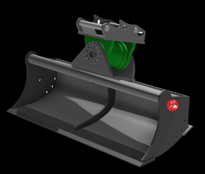 Referenz: Grabenräumlöffel mit Schwenkmotor GX-9S