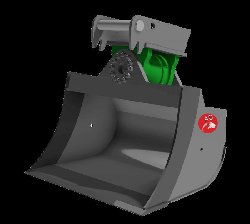 Referenz: Schwenktieflöffel mit Motor K2S_4S